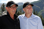 Prime Minister John Key with Michael Hill at the Hills Golf Course in Queenstown in 2010. File photo / APN
