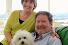 Mayor Bill Dalton relaxing with his wife Shirley and dog Peggy at the weekend. Photo / Duncan Brown