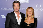 Liam Hemsworth and Miley Cyrus. Photo / AP