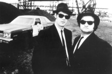 Dan Aykroyd and John Belushi in The Blues Brothers.