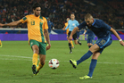Karim Benzema of France fires a shot past Rhys Williams during the International Friendly match between France and Australia. Photo / Getty Images