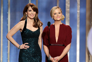 Tina Fey, left, and Amy Poehler at the 2013 Golden Globes.