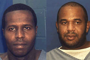 Charles Walker and Joseph Jenkins were mistakenly freed from a Florida prison. Photo / AP