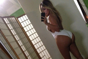 Kim Kardashian posted this selfie to her Instagram account.