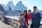 Gavin Rhodes, Phoumalaysy (Lea) Rhodes, with their children 17-month-old Manfred Rhodes and three-year-old Jadesuda Rhodes.