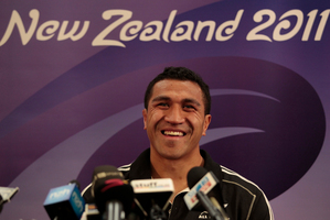 Mils Muliaina. Photo / Richard Robinson.