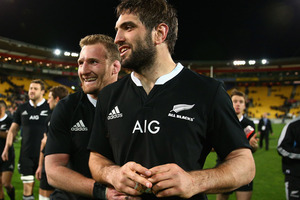 Kieran Read and Sam Whitelock of the All Blacks. Photo / Getty Images.