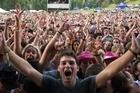 The crowd at Rhythm & Vines Festival, Waiohika Estate, Gisborne. Photo / Stephen Field