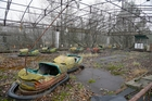 A playground in the deserted town of Pripyat, 3km from the Chernobyl nuclear power plant. Photo / AP