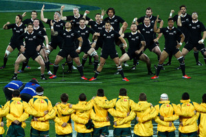 The All Blacks perform the haka before the test against the Wallabies on August 24. Photo / Getty Images