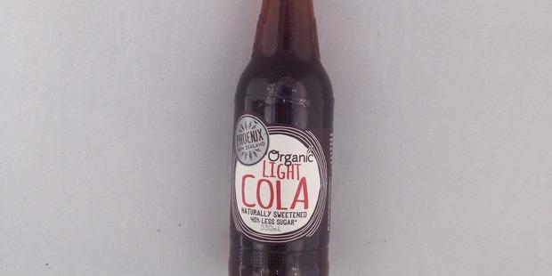 Phoenix Organic Light Cola, $2.45 for 330mls.