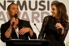 Co-hosts for the 2013 NZ Music Awards Stan Walker and Shannon Ryan at the official announcement of finalists in Auckland. Photo / Richard Robinson.