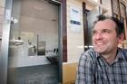 Rotorua Visitor Centre and i-Site assistant manager Craig Hammond outside the new 24-hour toilets. Photo / Ben Fraser