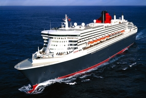 The Queen Mary 2 plows through the ocean. Photo / Getty Images