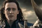 British actor Tom Hiddleston as Loki in the new 'Thor' movie.