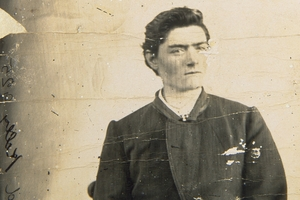 Ned Kelly, pictured as a young man, has been buried beside his mother.