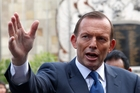 Aussie Prime Minister Tony Abbott is defined on the internet by his grand mis-steps.  PHOTO/FILE