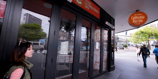 The California Burrito store on Queen St has been closed. Photo / Dean Purcell