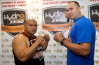 David Tua has made a career out of fighting much larger opponents like Alexander Ustinov. Photo / File