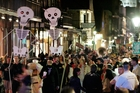 The crowd celebrates the Day of the Dead in New Orleans. Photo / AP