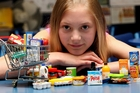 Chelsea Goodale, 10, organised a swap session for her school. Photo / Jason Oxenham