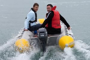 Water safety New Zealand CEO Matt Claridge (left) with Duncan Garner. Photo / Brett Phibbs