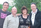 The George family is grateful their father is still in their lives. Pictured are (from left) David, Wayne, Christa and Andy George.