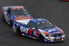 Matt Gibson in his BNT Ford Falcon Ute leading Geoff