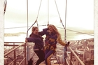 Beyonce posted this photo of her Sky Tower jump to her Instagram account.