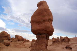 Authorities say three men could face felony charges after purposely knocking over an ancient Utah rock. Photo / AP