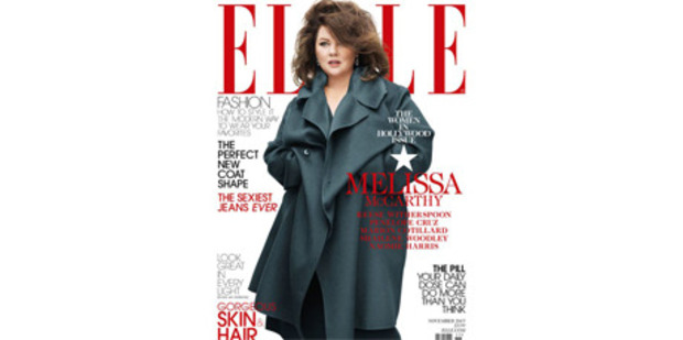 Melissa McCathy on the cover of Elle. Photo / Elle Magazine