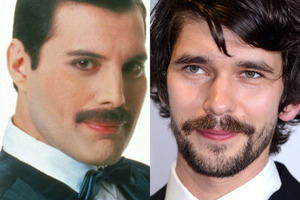 A new movie about Queen frontman Freddie Mercury (left) will see Ben Whishaw play the star. Photo / Getty Images