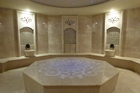 The hammam was a circular marble room with a starry domed ceiling and a raised, heated octagonal platform in the centre. Photo / Justine Tyerman