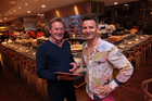 Grant Allen with Nic Watt of Masu Restaurant. Photo / Doug Sherring