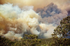 Bush fires rage across Central New South Wales.