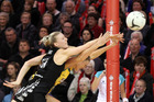 Katrina Grant of New Zealand in action against Australia. Photo / Getty Images