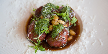 Wagyu Meatballs at Baduzzi. Photo / Supplied.