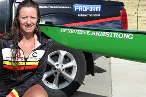 Genevieve Armstrong is one of four New Zealand rowers to have a new skiff named after them. Photo / Supplied