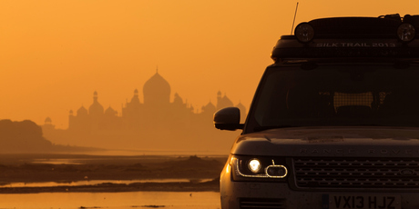 Three hybrid Range Rovers completed the Silk road expediation from Hull to Mumbai. For use in Driven, Oct 23.