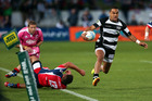 Telusa Veainu makes a break the ITM Cup Championship Final. Photo / Getty Images