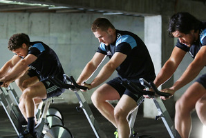 Sam Cane (centre) in the new Duracell ad.