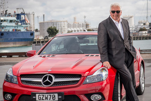 Rodney Wayne with his Mercedes-Benz SL Cabrio. Photo / Ted Baghurst