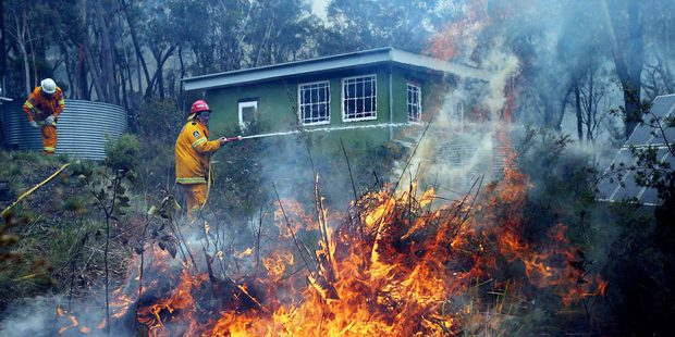 We can no longer see severe fires as one-offs that occur every few decades. Photo / Daily Telegraph