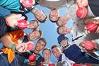 Overseas cricketers staying at Ben Williams Cricket Academy (clockwise from top); Joe Atkinson (England), Mathew Saunders (England), Steven Zwinkels (Netherlands), Cher van Slobbe (Netherlands), Ryan Parnell (England), Ben Quirk (England), Abdul Sabri (Scotland), Tim de Kok (Netherlands), Gavin Main (Scotland), Michael English (Scotland). Photo / Andrew Warner