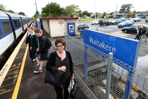 Anne Wilson at the Waitakere train station. Photo / Jason Oxenham