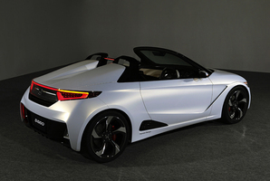 Honda will use the upcoming Tokyo  Motor  Show to showcase its S660 Concept, a micro sports car which could at last return Honda to its sporting roots not seen since the S2000 and the CR-X. The styling is heavily influenced by the EV-STER  concept of 2011 but without an electric drive. The S660 is powered by a 660cc three-cylinder engine punching out 47kW.