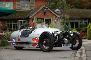 Andy Fellows is proud of this Morgan three-wheeler and delights in hustling it through Cotswold bends. Pictures / Jacqui Madelin