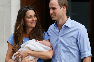 Britain's Prince William and Kate, Duchess of Cambridge, take home the Prince of Cambridge for the first time.Photo / AP