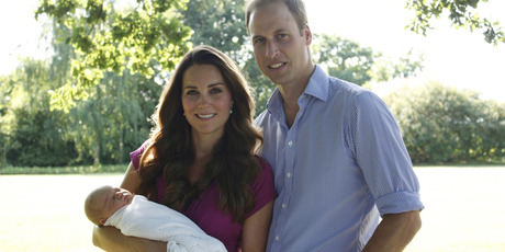 The first official family photograph taken by Michael Middleton, the Duchess's father. Photo / AP