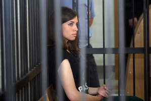 Nadezhda Tolokonnikova, a member of the feminist punk band, Pussy Riot. Photo / AP